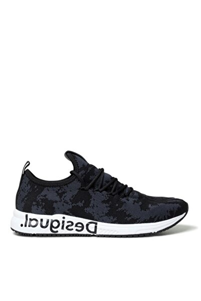 Desigual Kadın Siyah Runner Knit Sock Low Negro Sneaker