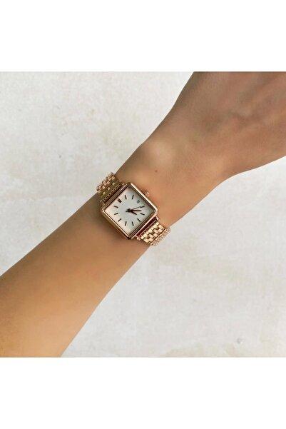 OQQO Minimal Kare Rose Kadın Saati