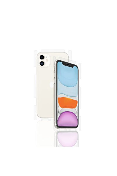 Wrapsol Iphone 11 Ön Arka Çift Kat Yan Ekstra Dayanıklı Fullbody Poliüretan Koruyucu Film