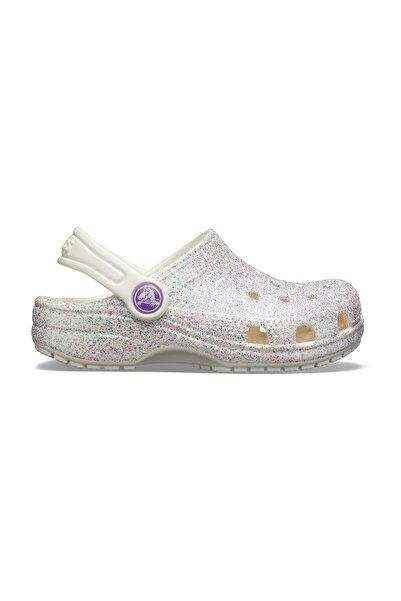 Crocs Kids Classic Glitter Clog K Gümüş Kız Çocuk Spor Sandalet