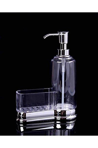 Lilya Home Gümüş Akrilik Süngerli Mutfak Sıvı Sabunluk