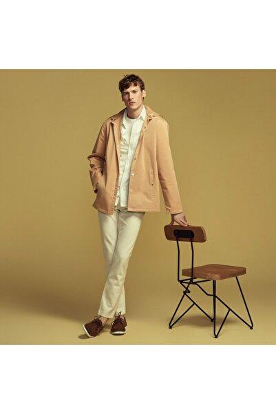 Mudo Gömlek Yakalı Kapüşonlu Pamuk Ceket