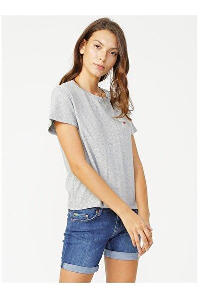 Lee Cooper Kadın Gri O Yaka T-shirt 202 Lcf 242029 Repreve 04