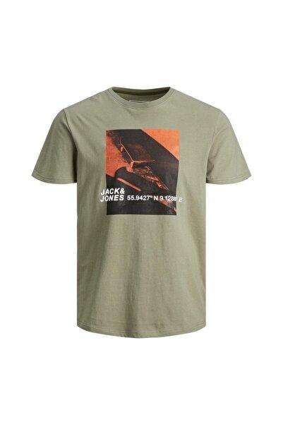Jack & Jones Erkek Haki Baskılı Tişört