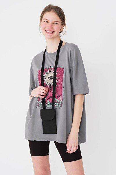 Addax Kadın Siyah Telefon Bölmeli Cüzdan Çanta Ç421 - F10 Adx-0000023861