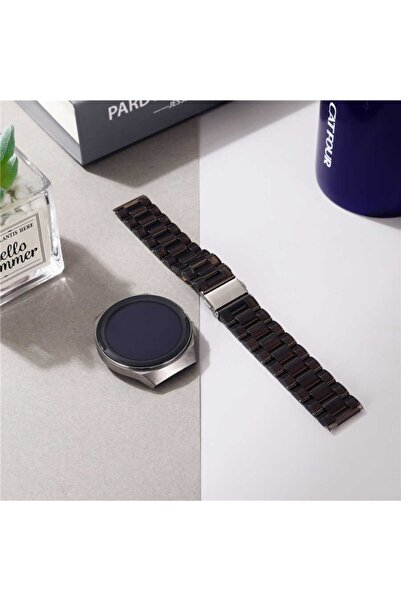 Samsung Galaxy Watch Active 2 44mm (20mm) Şeffaf Sert Plastik Krd-27 Akıllı Saat Kordonu Kayış Bileklik