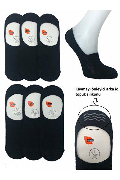 Belyy Socks 6'lı Erkek Babet Siyah Dikişsiz Silikonlu Modal Çorap