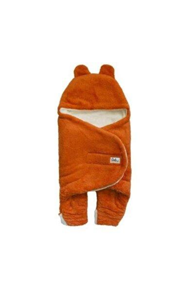 Owli Bebek Kışlık Dış Kundak Battaniye 0-6 Ay-turuncu