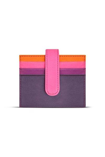 Case Look Kadın Deri Mor Renkli Çıtçıtlı Kartlık Jojo 03