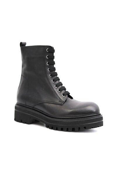 Beta Shoes Hakiki Deri Kadın Siyah Bot