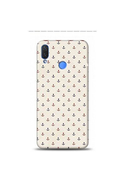 EXCLUSIVE Huawei P Smart 2019 Bej Denizci Desenli Telefon Kılıfı