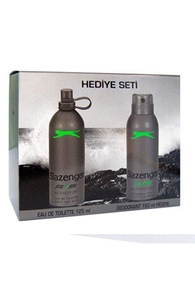Slazenger Active Sport Yeşil Edt 125 ml Erkek Parfüm Deodorant Seti 7788291013650