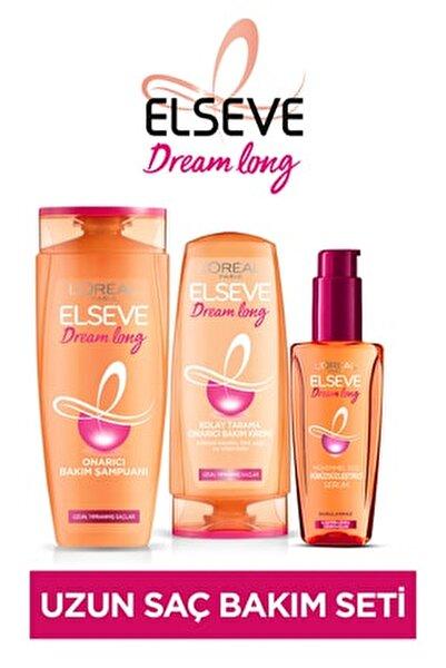Dream Long Onarıcı Bakım Şampuanı 450 ml &saç Bakım Kremi 360 ml &mükemmel Düz Pürüzsüzleştici Serum