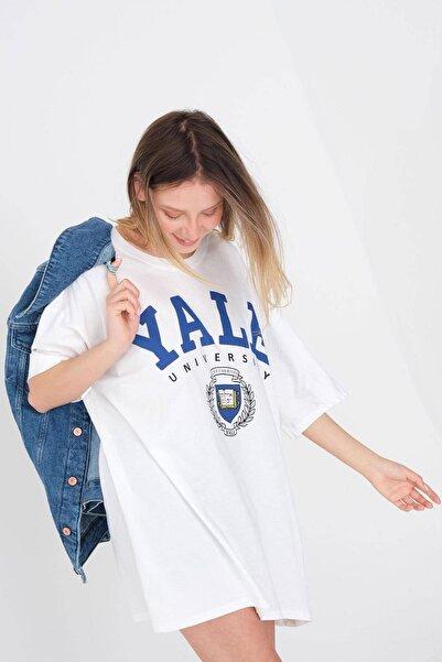 Addax Baskılı Oversize T-shirt P9581 - P13