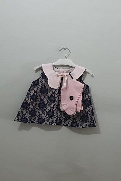 bonbonetti Kız Bebek Dantelli Elbise