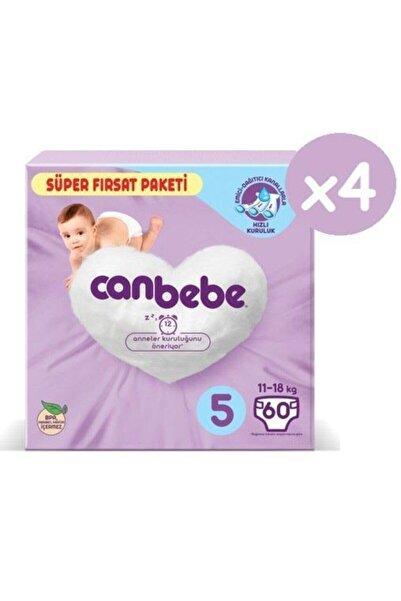 Canbebe Süper Fırsat Paketi Bebek Bezi 5 Numara 60x4 240 Adet