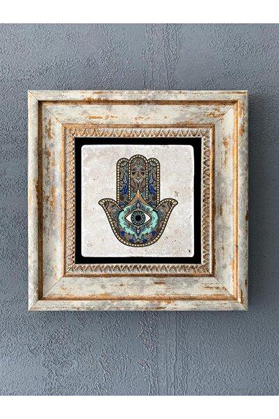 Oscar Stone Decor Çerçeveli Taş Duvar Dekoru 20 X 20 cm Fatma Ana Eli