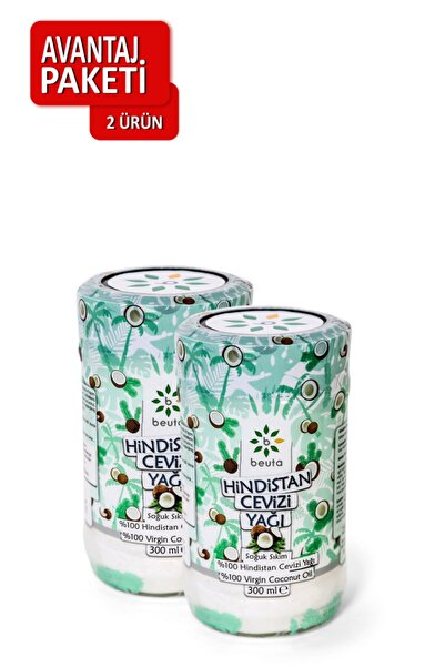 Beuta Hindistan Cevizi Yağı Doğal Soğuk Sıkım 300 ml X 2 Adet