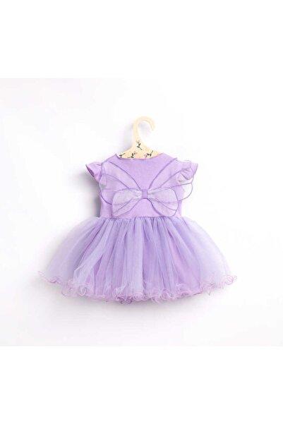 Le Mabelle Lila Kelebek Kanatlı Kız Bebek Elbise - Butterfly