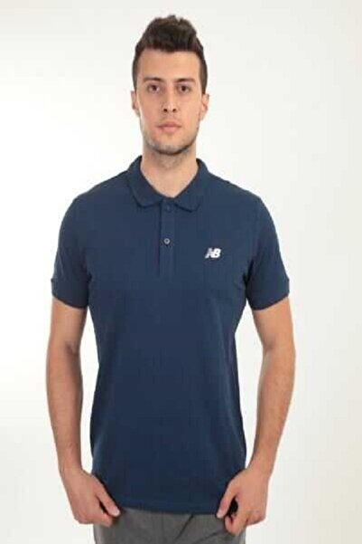 New Balance Logo Mens Polo Tee Lacivert Erkek Polo Tişört - Nbtm2000-avı