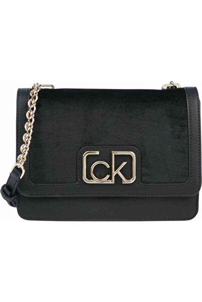 Calvin Klein Kadın Siyah Flap Omuz Çantası