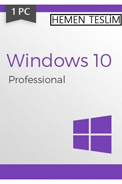 MICROSOFT Window 10 Pro Lisans Key 32 & 64 Bit