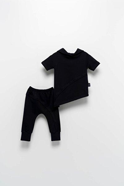 Moi Noi Bebek Çocuk Asimetrik 2 Li Takım Siyah Unisex