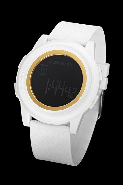 Comwatch Unisex Beyaz Comwatch Silikon Kordon Kol Saati