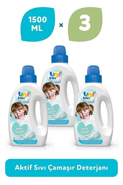 Uni Baby Çamaşır Deterjanı 1500 ml 3'lü Ekonomik Fırsat Paketi