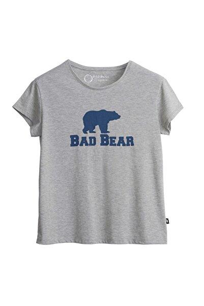 Bad Bear Kadın Grı T-shırt