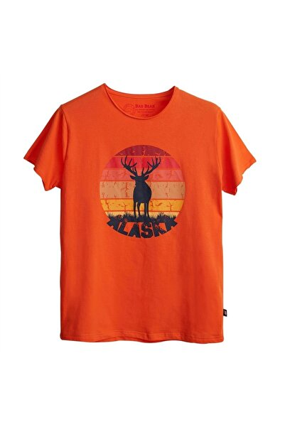 Bad Bear Erkek Oranj T-shırt 21.01.07.001