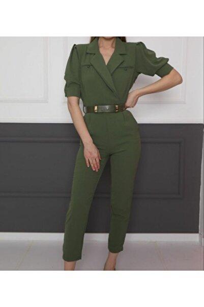 Miss Selens Kadın Yeşil Tulum