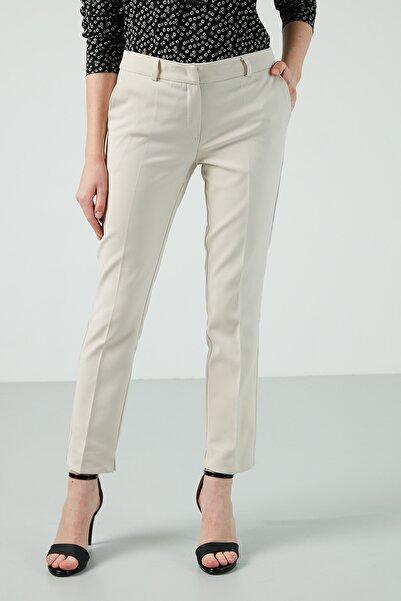 AYHAN Kadın Gri Cepli Pamuklu Pantolon