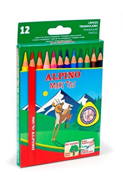 Alpıno Maxi Tri 12li Jumbo Üçgen Kuruboya