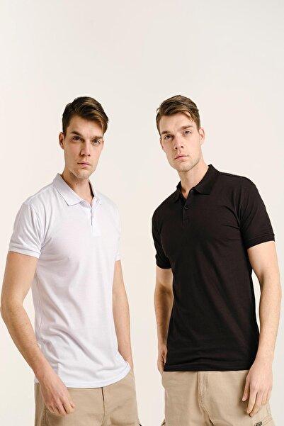 Oksit Erkek Mandy Polo Yaka Slim Fit Tshirt 2'li Paket