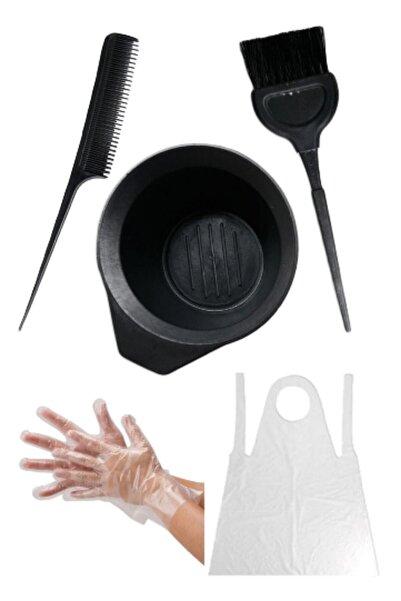 MAQYA KOZMETİK Saç Boyama Seti&saç Boya Fırçası+krepe Tarağı+boya Kabı+eldiven + Önlük & Hair Coloring Set