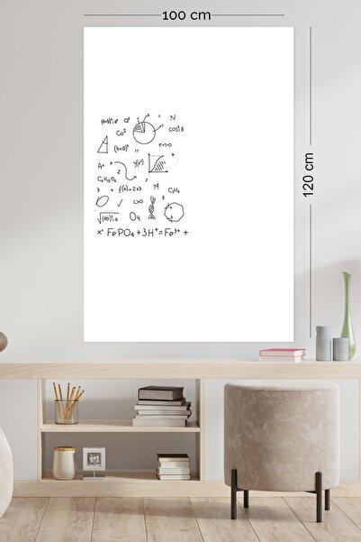 Evbuya 100 Cm-120 Cm Beyaz Yapışkansız Manyetik Statik Akıllı Kağıt Yazı Yahtası (1 ALANA 1 BEDAVA)