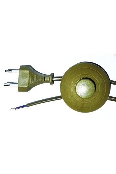 Renklipriz Yer Puarlı Fişli Lambader Abajur Kablosu 4 Metre Gold