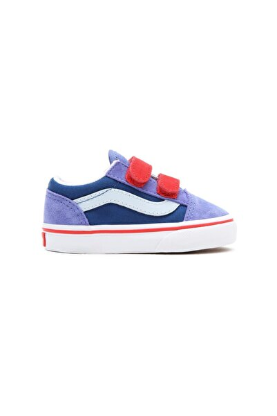 Vans Td Old Skool V Mor Kırmızı Unisex Çocuk Sneaker