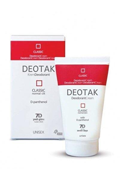 Deotak Normal Ciltler Için Klasik Krem Deodorant 35ml