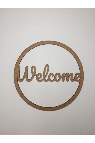 DecorOF Welcome Makrome Kasnak 30cm-4mm Mdf