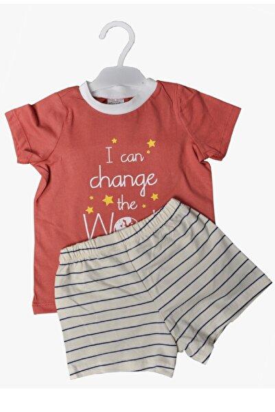 Fuar Baby Change The World Baskılı Erkek Bebek Şortlu Takım