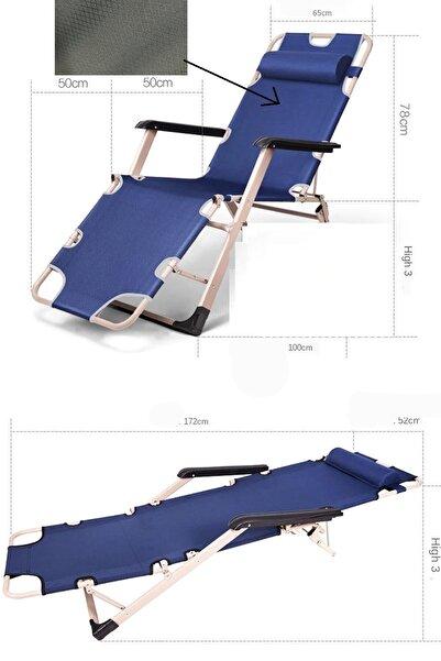 Leva House Şezlong Yerçekimsiz Katlanır Koltuk Kamp Sandalye Plaj Bahçe Yazlık Zero Gravity Sunbed Yerçekimi