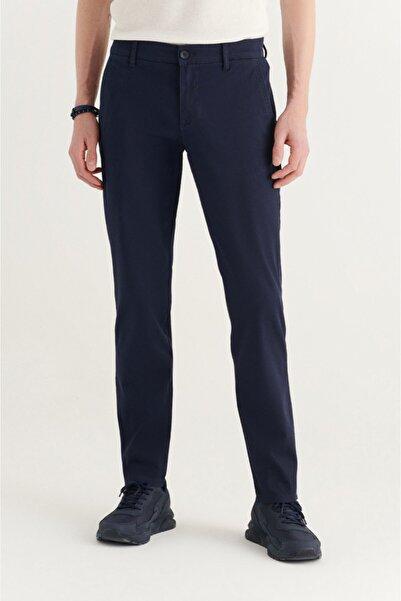 Avva Erkek Lacivert Yandan Cepli Armürlü Slim Fit Pantolon A11y3036