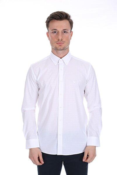 Diandor Erkek Beyaz Uzun Kollu Gömlek V1 171739