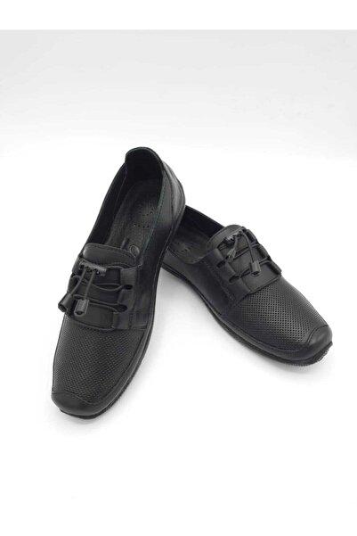 daser Kadın Günlük Siyah Deri Ayakkabı
