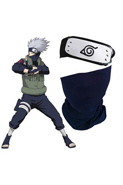 Köstebek Naruto Cosplay Hatake Kakashi Maske Ve Alınbandı