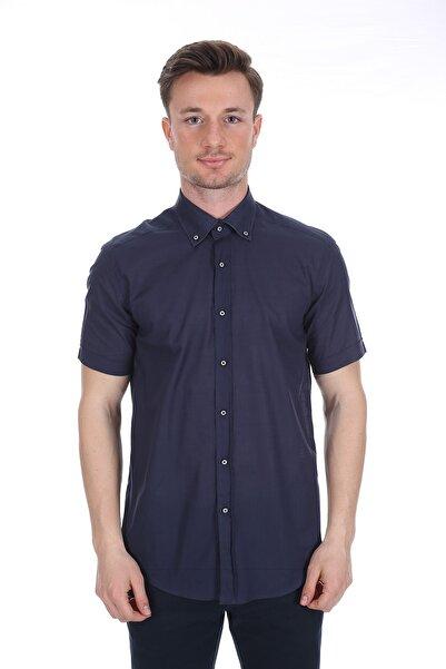 Diandor Erkek Lacivert Kısa Kollu Gömlek V1 171795