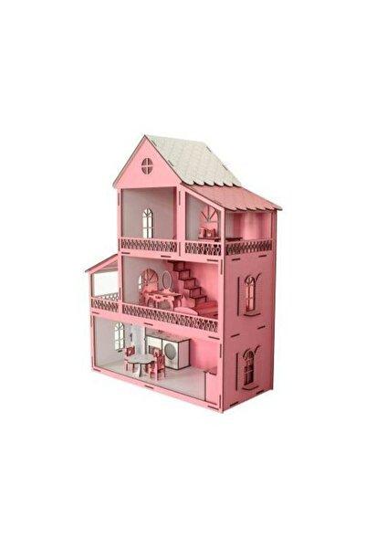 EDKZEKA Ahşap Bebek Oyun Evi ( Büyük Boy Yükseklik 80cm En 60cm Derinlik 40cm)