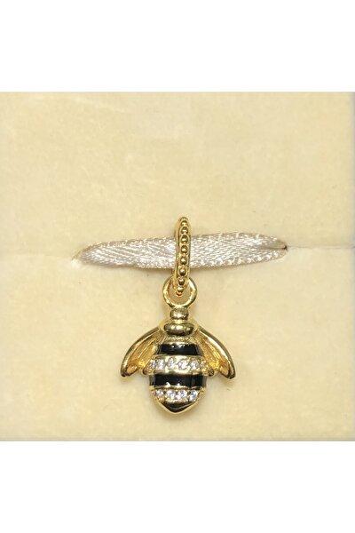 CHARM'S Kadın Sarı  Bileklik Uyumlu 925 Ayar Saf Gümüş Kraliçe Arı Charm'ı